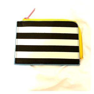 Mini Black and White Striped Sephora Cosmetic Bag